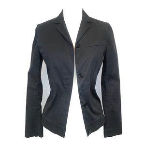 Helmut Lang Navy Blue Button Down Navy Blazer